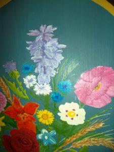 fleurs peintes/ fleurs décoratives