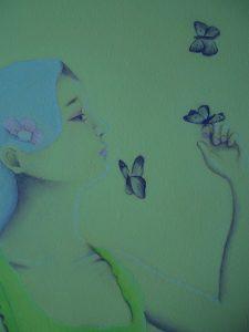 portrait peint/peinture à l'huile/peinture/japon
