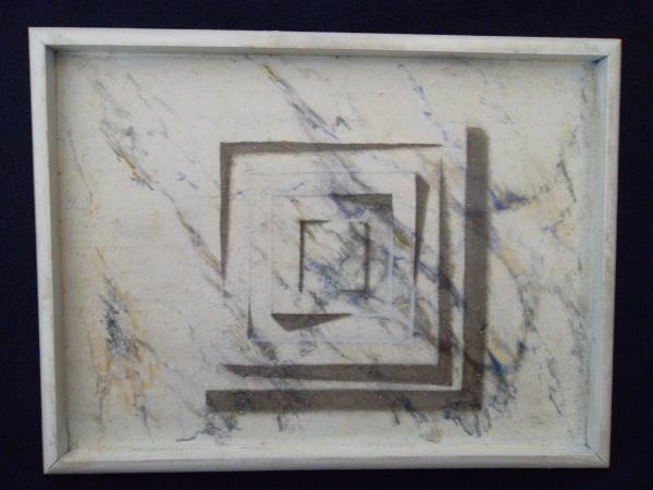 Illusion d'optique pour cette peinture réalisée à l'huile