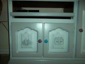 rénovation meuble/ décors peints sur meubles