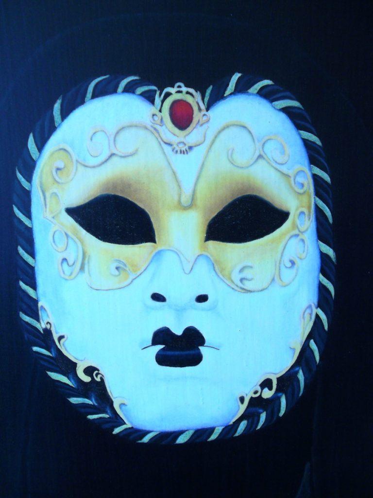 masque venitien peint/masque décoré