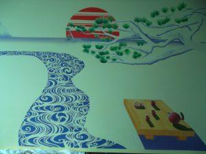 peinture stylisée/ pdécoration japonaise