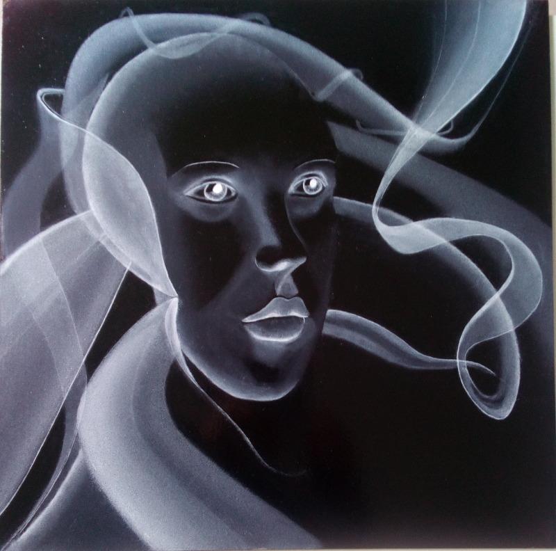 fond-noir / peinture en négatif