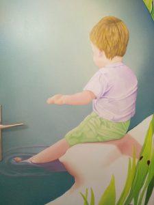 garçon peinture