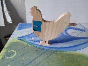 poule bois à peindre
