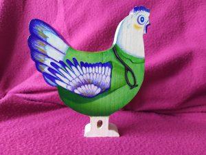poule en bois à peindre